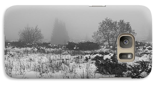Galaxy Case featuring the photograph Foggy Morning Mountain Snow by Jivko Nakev