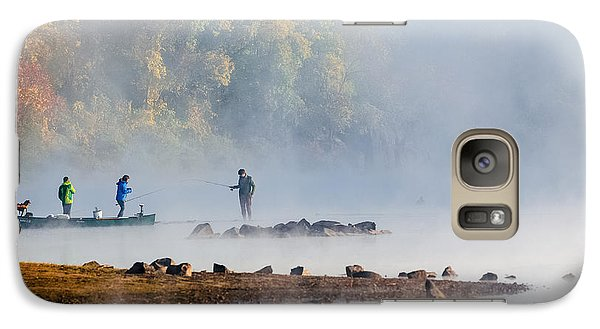 Galaxy Case featuring the photograph Foggy Morning St Croix River Stillwater Mn by RC Pics