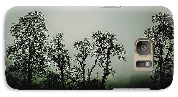 Galaxy Case featuring the photograph Foggy Mountain Morning At The Meadows Of Dan by John Haldane