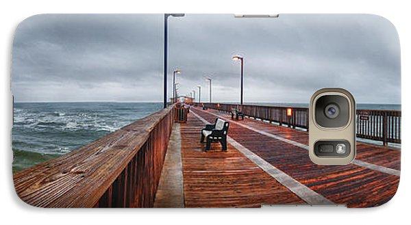 Galaxy Case featuring the digital art Foggy Pier  by Michael Thomas