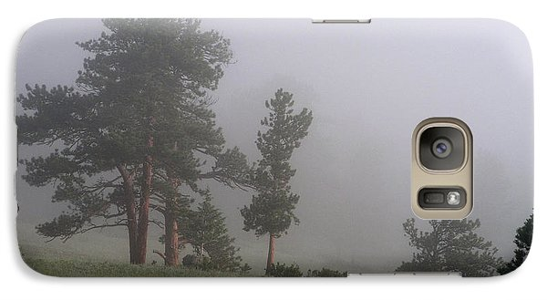 Galaxy Case featuring the photograph Foggy Pines by Craig T Burgwardt