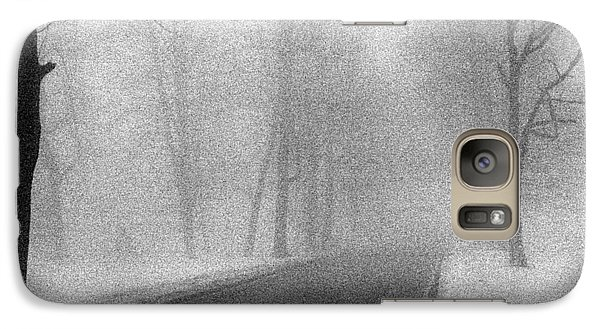Galaxy Case featuring the photograph Foggy Road by Christopher McKenzie
