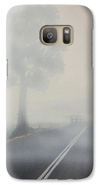 Galaxy Case featuring the painting Foggy Road by Tim Mullaney