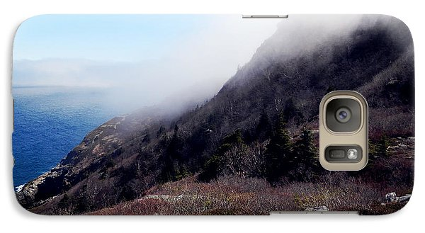 Galaxy Case featuring the photograph Foggy Seashore by Zinvolle Art