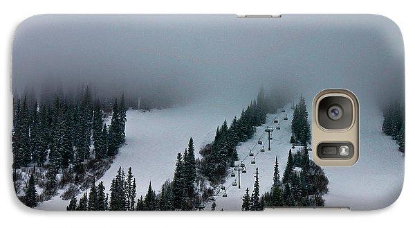 Galaxy Case featuring the photograph Foggy Ski Resort by Eti Reid