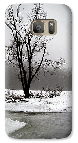 Galaxy Case featuring the photograph Foggy Tree by Kimberly Mackowski