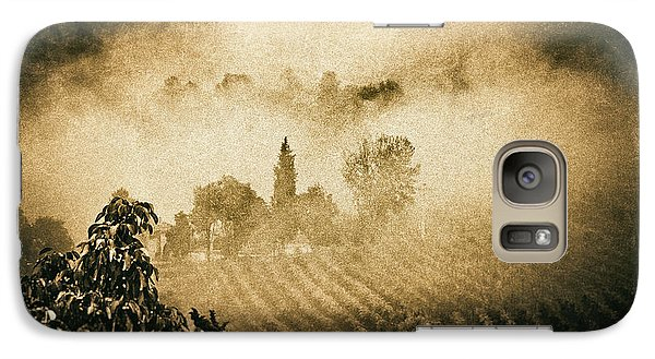 Galaxy S7 Case featuring the photograph Foggy Tuscany by Silvia Ganora