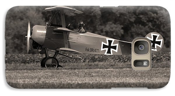 Galaxy Case featuring the photograph Fokker Dr1477 Triplane by Timothy McIntyre