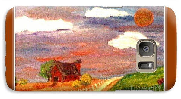 Galaxy Case featuring the painting Folk Art by Bobbee Rickard