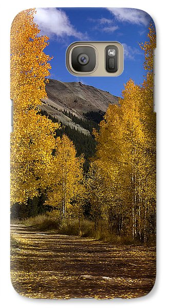 Galaxy Case featuring the photograph Follow The Gold by Ellen Heaverlo
