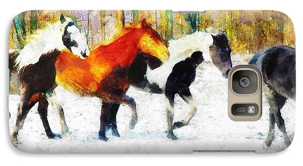 Galaxy Case featuring the painting Follow The Leader by Greg Collins