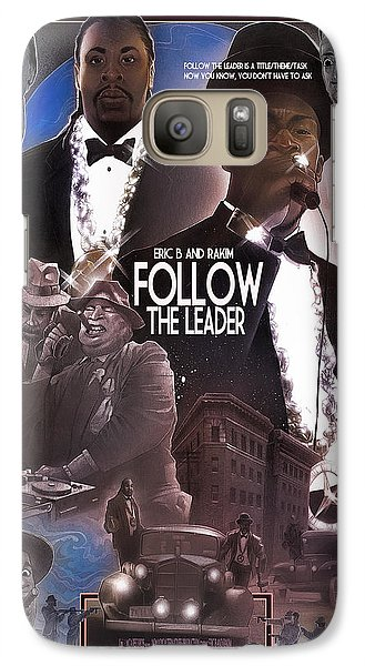 Galaxy Case featuring the painting Follow The Leader by Nelson Dedos Garcia