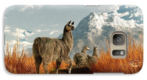 Follow The Llama Galaxy S7 Case by Daniel Eskridge