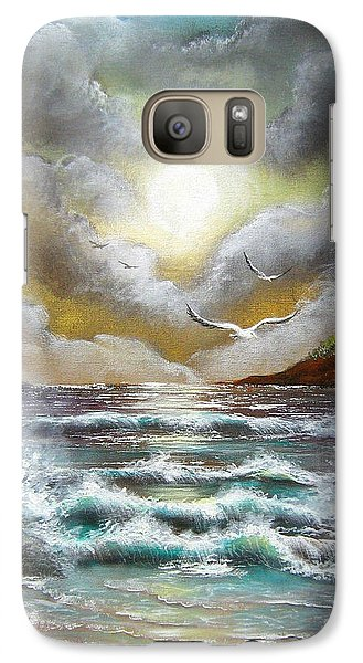 Galaxy Case featuring the painting Follow The Wind by Patrice Torrillo