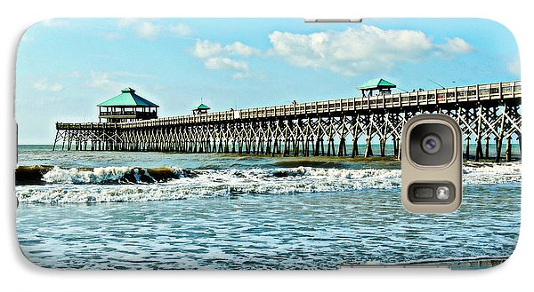 Galaxy Case featuring the photograph Folly Beach Fishing Pier by Eve Spring