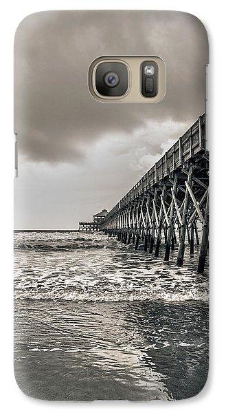 Galaxy Case featuring the photograph Folly Beach Pier by Sennie Pierson