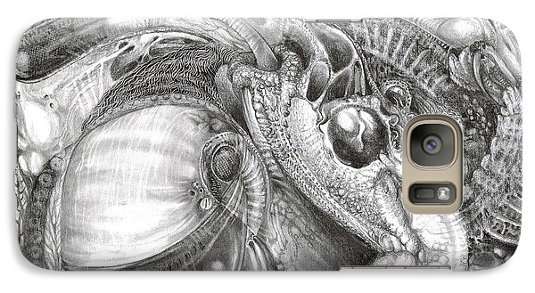 Galaxy Case featuring the drawing Fomorii Aliens by Otto Rapp