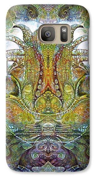 Galaxy Case featuring the digital art Fomorii Throne by Otto Rapp