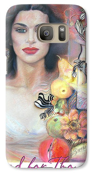 Galaxy Case featuring the mixed media Food For Thought by Brooks Garten Hauschild