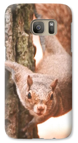 Galaxy Case featuring the photograph Is It Safe To Come Down by Belinda Lee