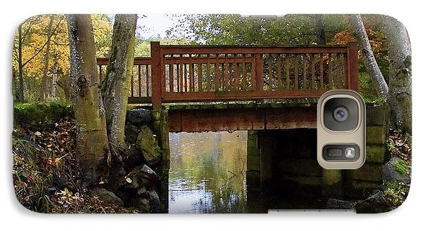Galaxy Case featuring the photograph Foot Bridge by Ron Roberts