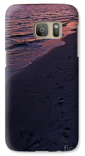 Galaxy Case featuring the photograph Foot Prints Upon The Sands Of Time by Irma BACKELANT GALLERIES