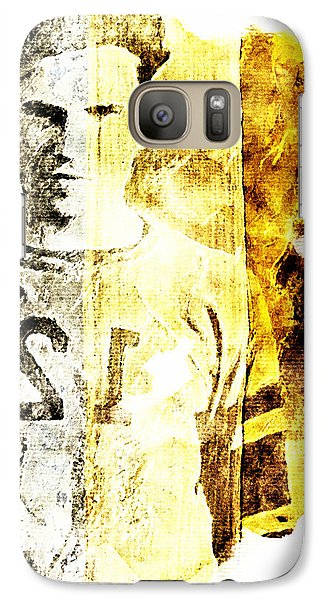 Galaxy Case featuring the digital art Football Player by Andrea Barbieri