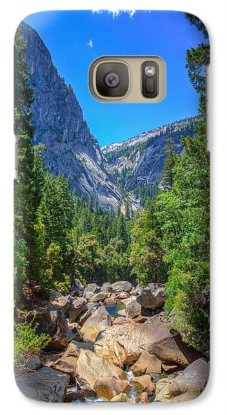 Galaxy Case featuring the photograph Footbridge View by Mike Lee