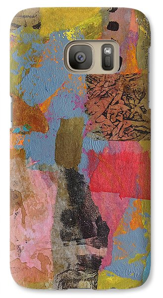 Galaxy Case featuring the mixed media Footprints by Catherine Redmayne