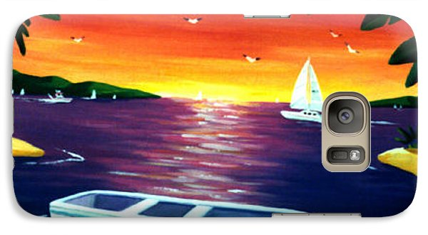 Galaxy Case featuring the painting Footprints In Paradise by Lance Headlee