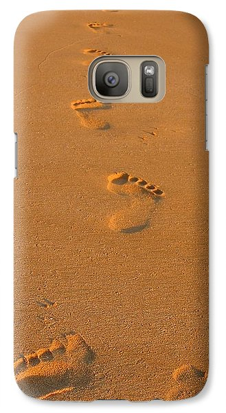 Galaxy Case featuring the photograph Footprints In The Sand by Andreas Thust