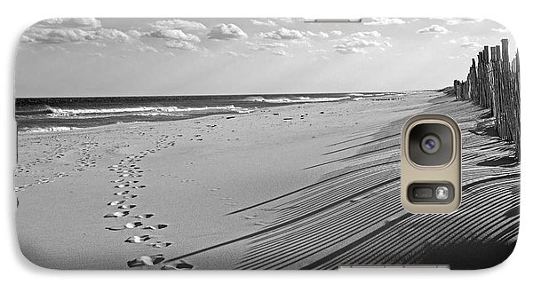 Galaxy Case featuring the photograph Footprints In The Sand by Debra Fedchin