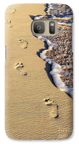 Beach Galaxy S7 Case - Footprints On Beach by Elena Elisseeva