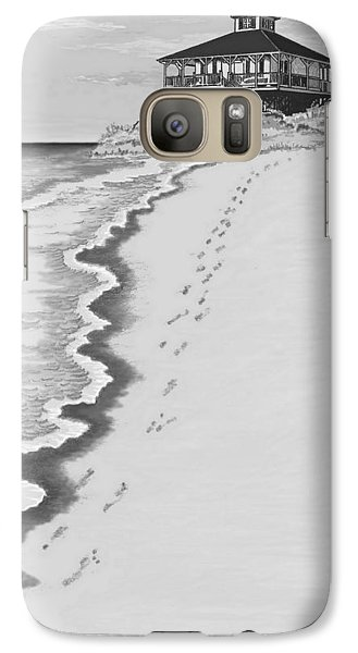 Galaxy Case featuring the digital art Footprints On Boca Beach by Carol Jacobs