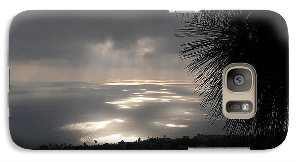 Galaxy Case featuring the photograph Footprints On The Ocean by Bev Conover
