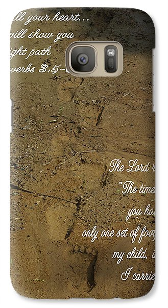 Galaxy Case featuring the photograph Footprints Proverbs by Robyn Stacey