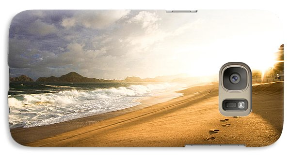 Galaxy Case featuring the photograph Footsteps In The Sand by Eti Reid