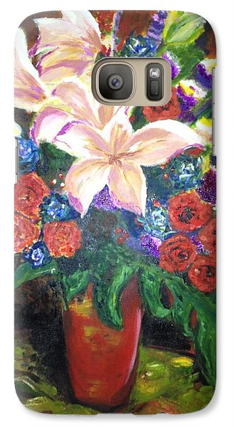 Galaxy Case featuring the painting For My Friend Lily by Belinda Low