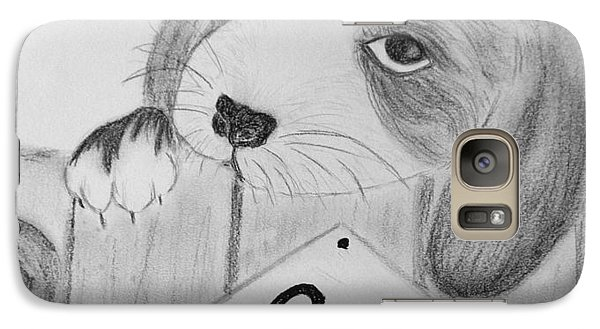 Galaxy Case featuring the drawing For Sale by Celeste Manning
