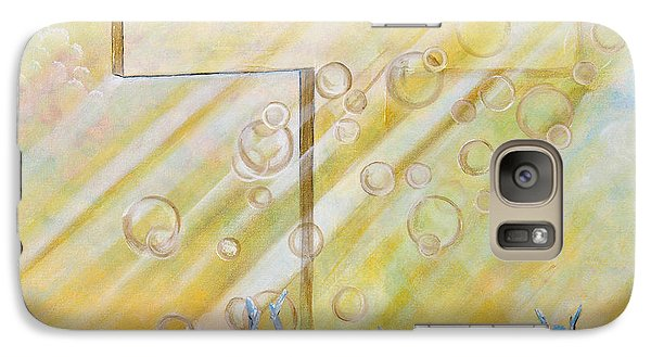 Galaxy Case featuring the painting For The Cross by Cassie Sears