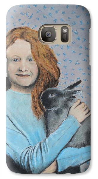 Galaxy Case featuring the painting For The Love Of Bunny by Jeanne Fischer