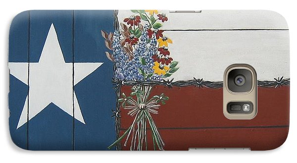 Galaxy Case featuring the painting For The Love Of Texas by Suzanne Theis