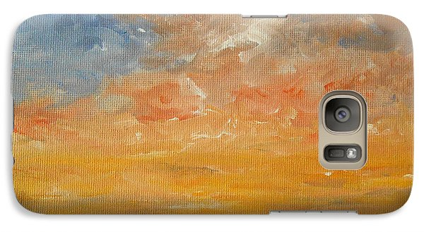 Galaxy Case featuring the painting Force Of Nature 2 by Jane  See