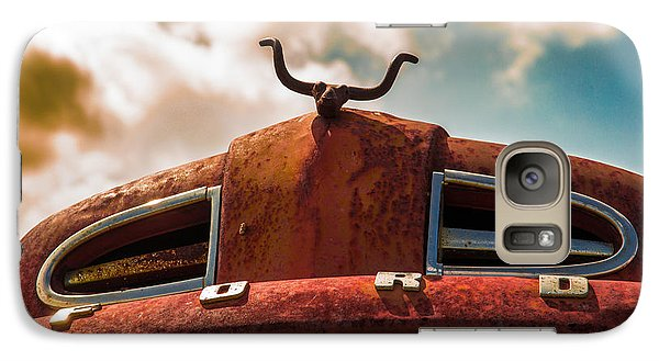 Galaxy Case featuring the photograph Ford Hood Ornament by Bartz Johnson