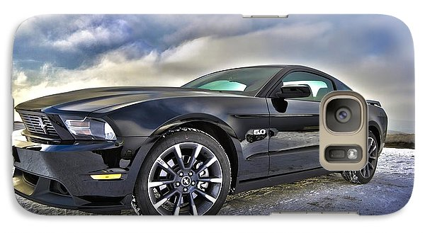 Galaxy Case featuring the photograph ford mustang car HDR by Paul Fearn