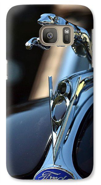 Galaxy Case featuring the photograph Ford V-8 Hood Ornemant by Dean Ferreira