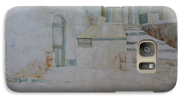 Galaxy Case featuring the painting Forenza Vita - Salita Trappeto by Giovanni Caputo