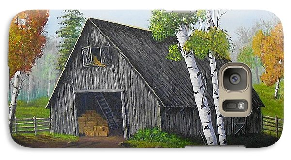 Galaxy Case featuring the painting Forest Barn by Sheri Keith