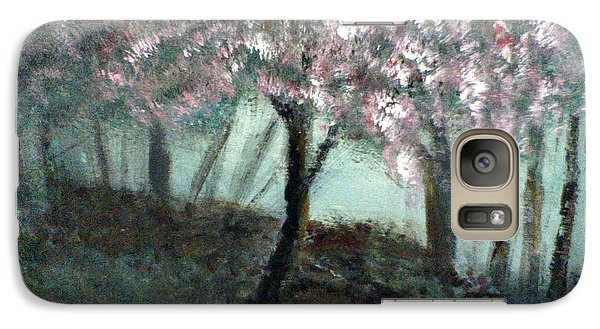 Galaxy Case featuring the painting Forest Beauty by J L Zarek