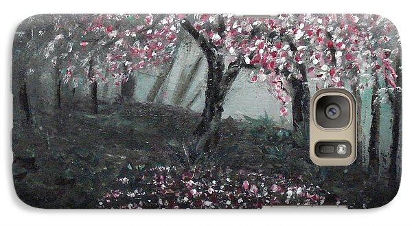 Galaxy Case featuring the painting Forest Beauty Two by J L Zarek